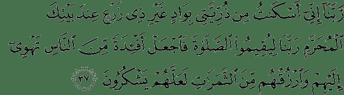 Surat Ibrahim Ayat 37