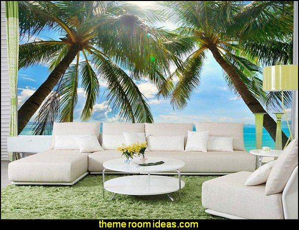 tropical wall murals decorating tropical theme bedrooms palm tree wall murals