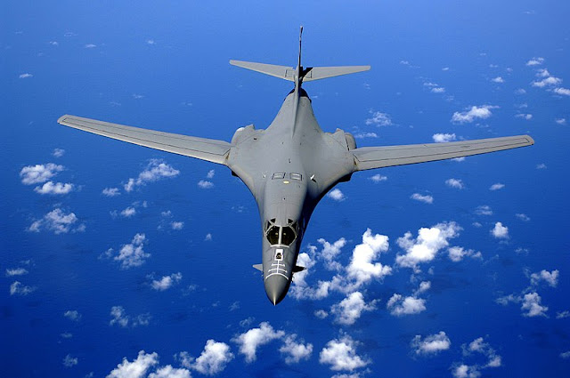 Image Attribute: A B-1B Lancer drops back after air refueling training Sept. 30. The B-1B is deployed to Andersen Air Force Base, Guam, as part of the Pacific Command's continuous bomber presence in the Asia-Pacific region, enhancing regional security and the United States commitment to the Western Pacific. The B-1 is from the 28th Bomb Wing, Ellsworth AFB, South Dakota. / Source: the United States Air Force photo by Staff Sgt. Bennie J. Davis III (Wikimedia Commons)