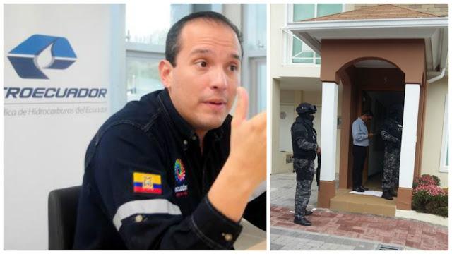 alex bravo gerente petroecuador detenido