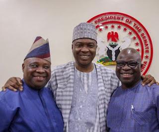 Saraki brought back peace between senator Adeleke and his rival, Dr Ogunbiyi.