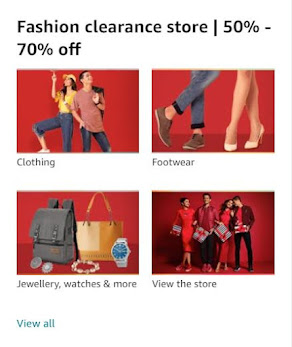 Fashion clearance store | 50% - 70% off