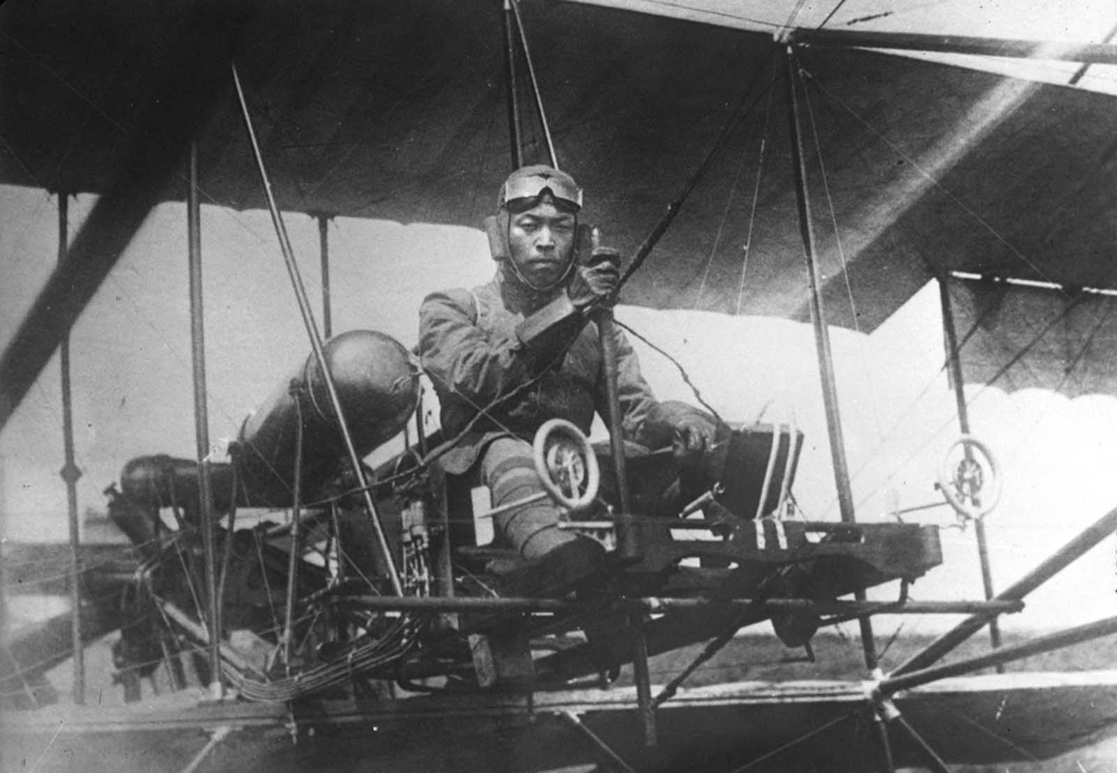Japanese aviator, 1914.