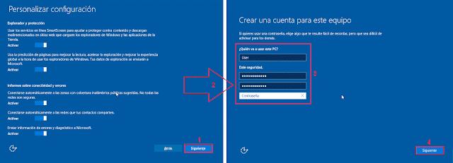 Windows 10: Crear una cuenta para este equipo.