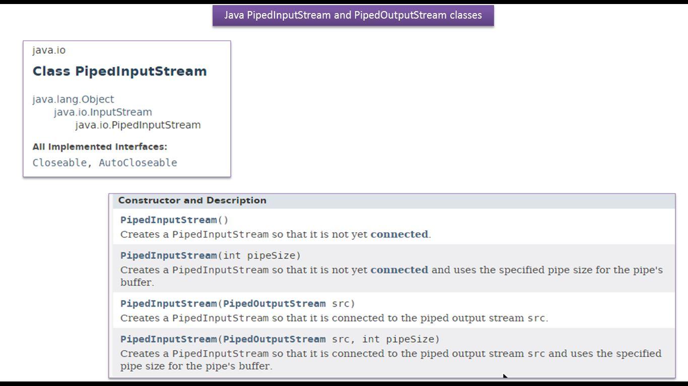 Java ee java tutorial java io pipedinputstream and java tutorial java io pipedinputstream and pipedoutputstream introduction baditri Image collections