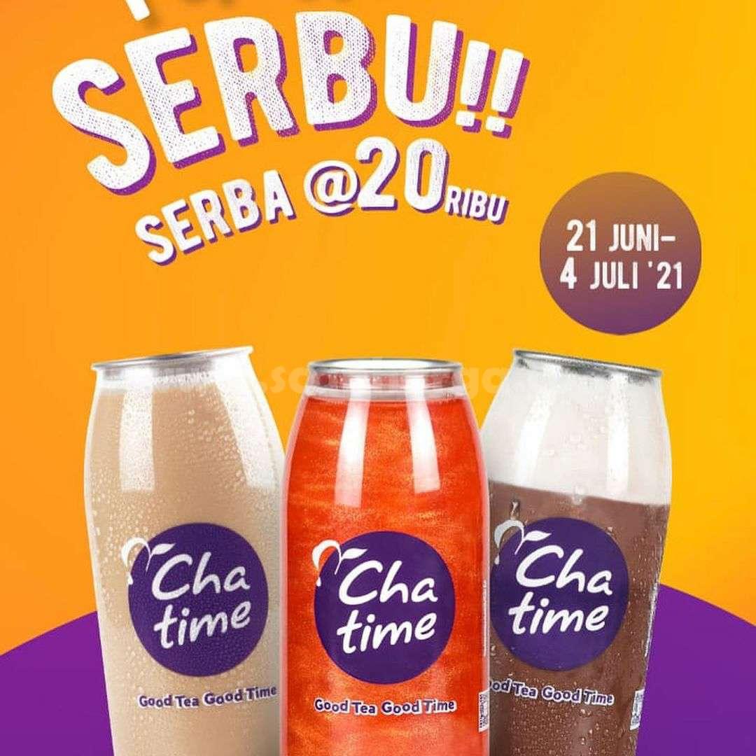 Promo CHATIME SERBU SERBA Rp. 20.000