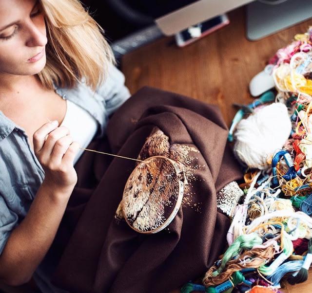 Os bordados maravilhosos de Lisa Smirnova