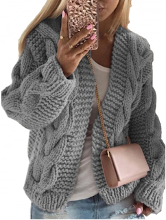 5 Chic and Classy Clothes for Fall 2020 - Soft-Touch Gray Drop Shoulder Full Sleeve Knit Coat For Work