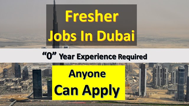 Jobs In Dubai For Fresher | Fresher Jobs In Dubai | Salary 3000AED |