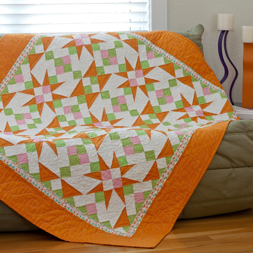 Cactus Flower Quilt Free Pattern