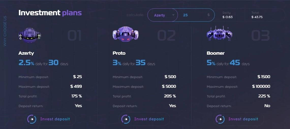 Инвестиционные планы Robotop