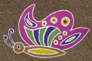 butterfly rangoli designs for kids