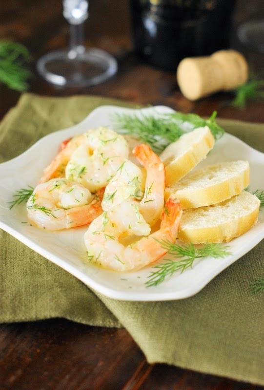 Garlic & Dill Marinated Shrimp