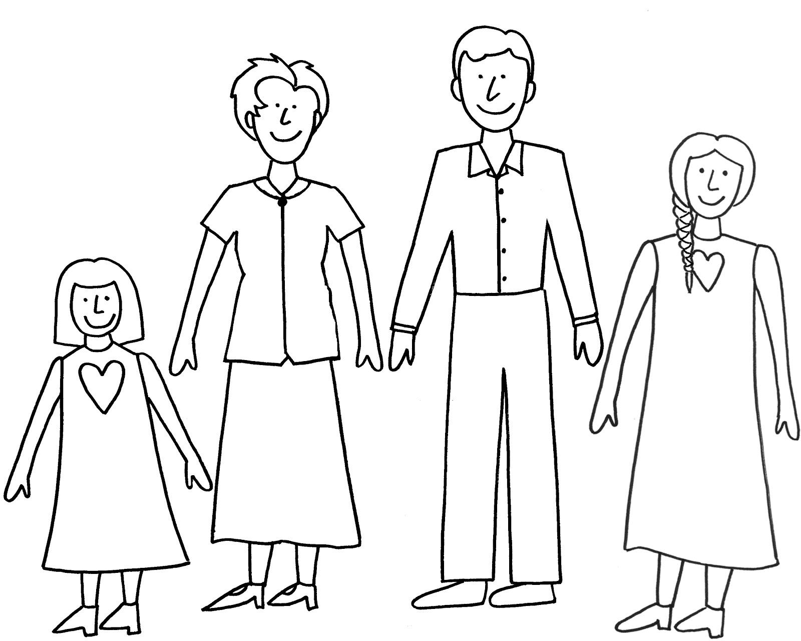 Поздравление, рисунок семьи карандашом для детей картинки