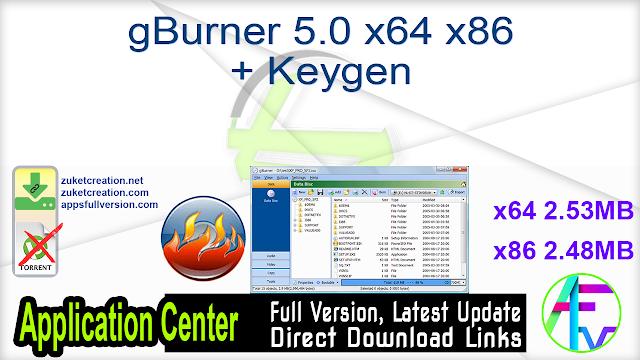 gBurner 5.0 x64 x86 + Keygen