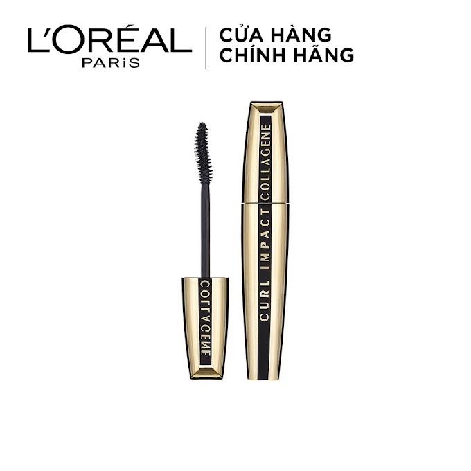 Mascara L'Oreal Làm Cong Và Dày Mi Curl Impact Collagene 11ml