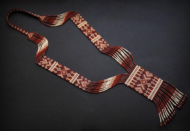 купить гердан из бисера ручной работы купить украшения из бисера в этно стиле