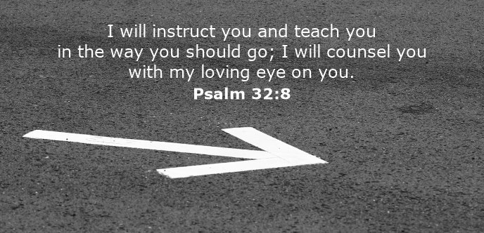 I will instruct you and teach you in the way you should go; I will counsel you with my loving eye on you.