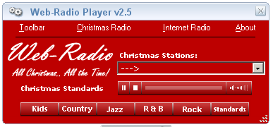 Streaming Christmas music player