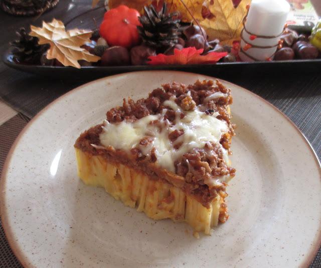 recept těstovinový koláč rigatoni