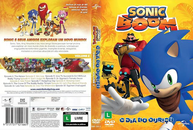 Capa DVD Sonic Boom O Dia do Ouriço [Custom]