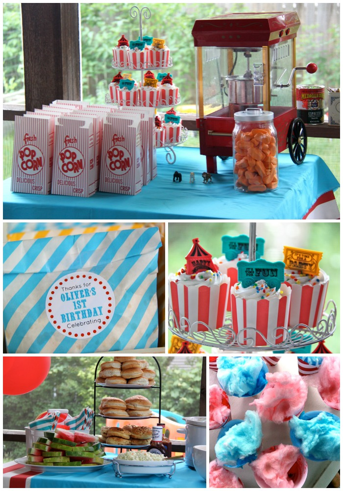 Oliver S First Birthday A Circus Party Smashed Peas