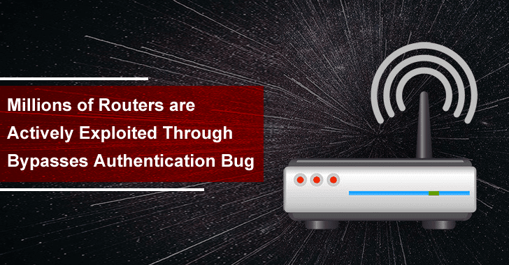 Millions of Routers are Actively Exploited Through Bypasses Authentication Bug