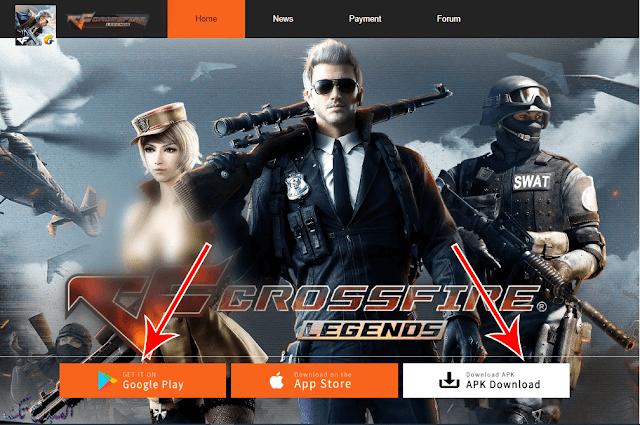 تحميل لعبة كروس فاير للاندرويد CrossFire Legends apk
