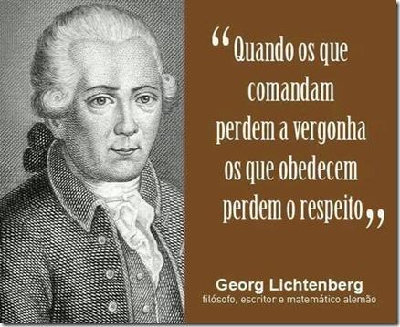 De Georg Lichtenberg para os que governam o Brasil