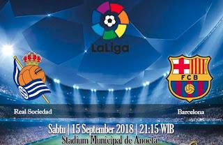 Prediksi Real Sociedad vs Barcelona 15 September 2018