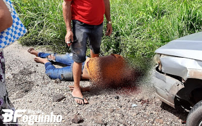 Urgente: Colisão entre moto e carro deixa um morto e outro ferido na MA-230 próximo ao Pantanal, em Chapadinha.