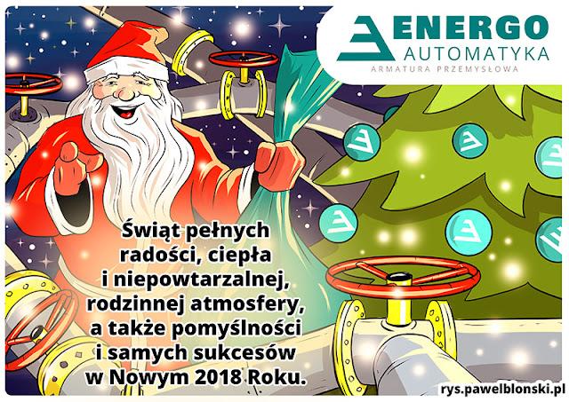 kartka świąteczna w stylu rysunku komiksowego