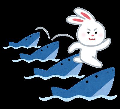 因幡の白兎のイラスト(サメ)