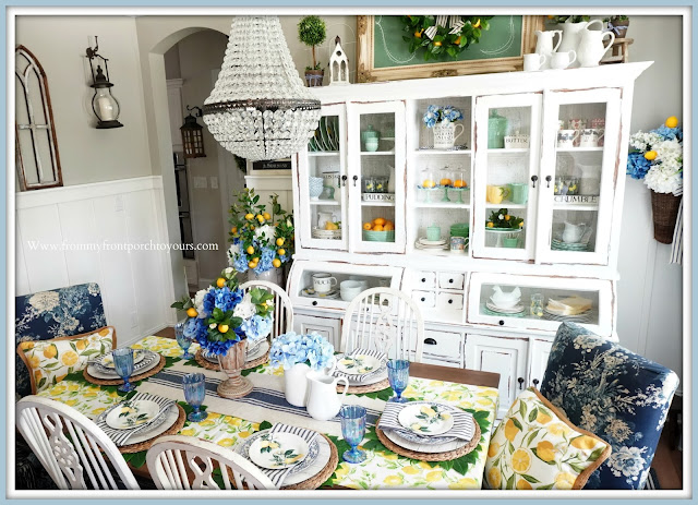 French Farmhouse-Dining Room-Tablescape-From My Front Porch To Yours