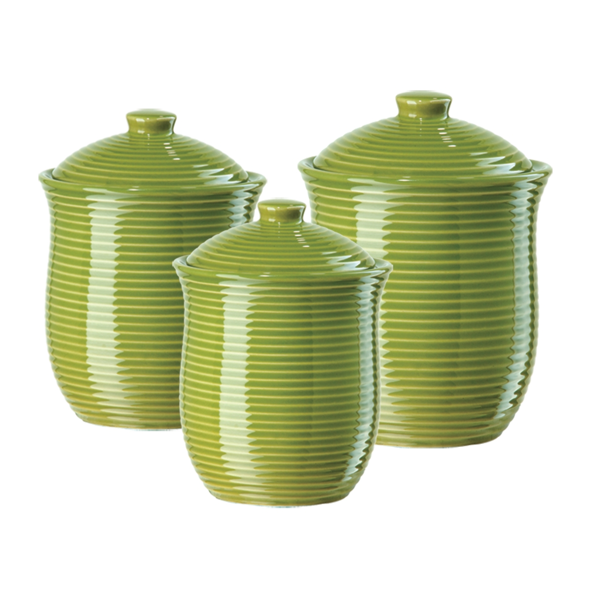 Elegant Green Kitchen Canisters That Are Nothing Else But Perfect