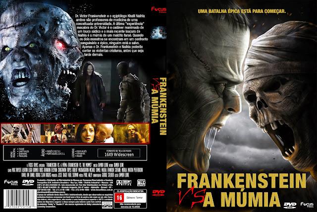 Capa DVD Frankenstein VS A Múmia