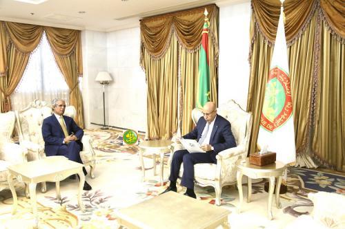 El Presidente de Mauritania recibe a un enviado especial del Presidente saharaui.