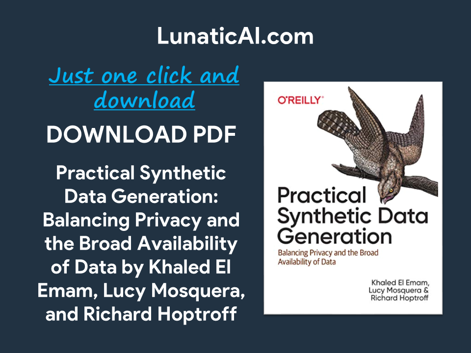 practical synthetic data generation pdf