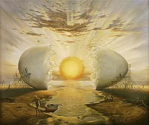 05-Sunrise-by-the-Ocean-Vladimir-Kush-Surreal-Lands-Paintings-www-designstack-co