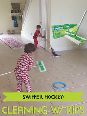 Cleaning Hack: Swiffer Sweeper Hockey - Tips for Making Cleaning Fun for Kids