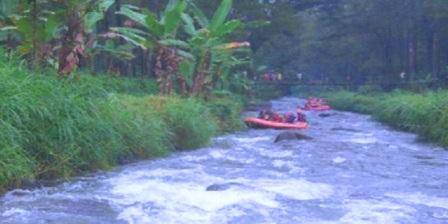 Songgon rafting Wisata Kali Badeng banyuwangi