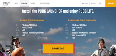 Spesifikasi PUBG Lite PC