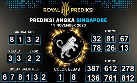 Royal Prediksi Togel Singapura Rabu 11 November 2020