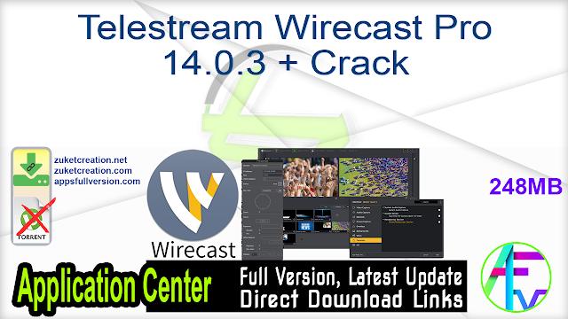 Telestream Wirecast Pro 14.0.3 + Crack