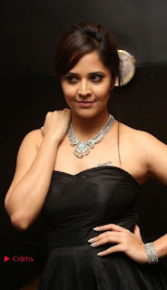 Telugu Anchor Actress Anasuya Bharadwa Stills in Strap Less Black Long Dress at Winner Pre Release Function  0006.jpg