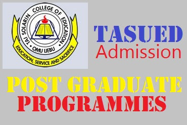 2017 TASUED Postgraduate Admission Form - Tai Solarin University of Education