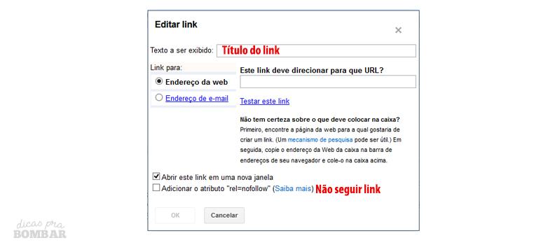 Links e atributo No Follow