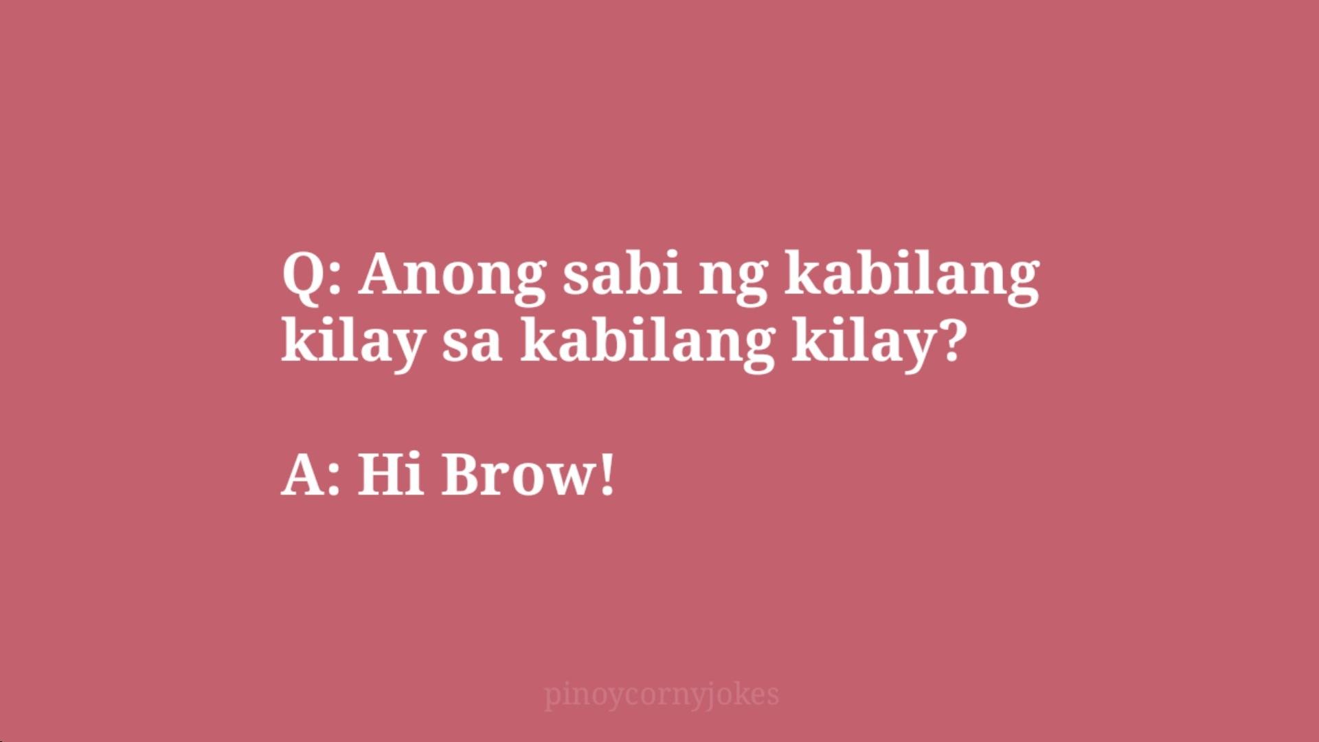 hi brow corny jokes pinoy q and a
