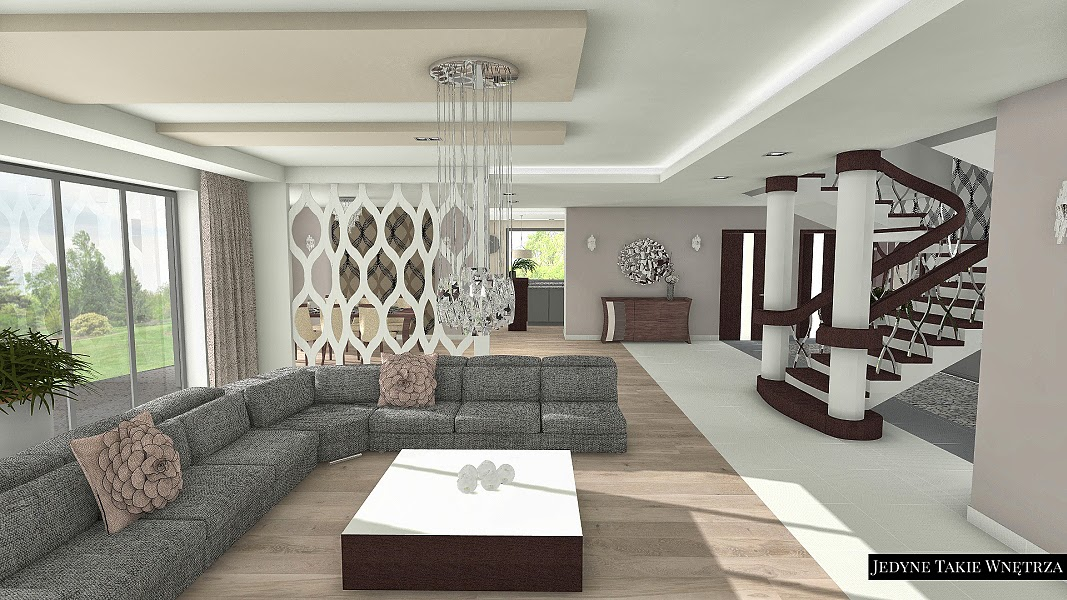 Jedyne Takie Wnętrza Eleganckie Wnętrze Domu W Stylu Glamour I