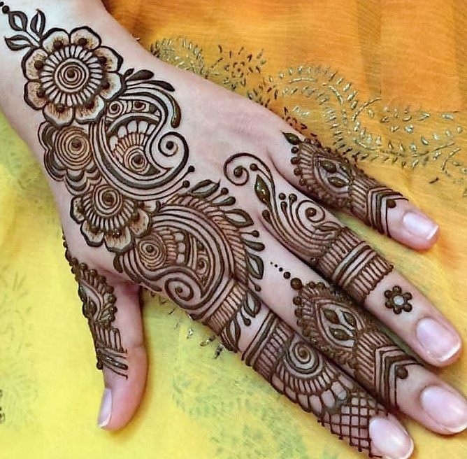 mehndi design for dulha back hand